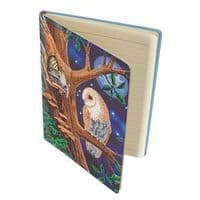Owl and Fairy Tree Crystal Art Notebook